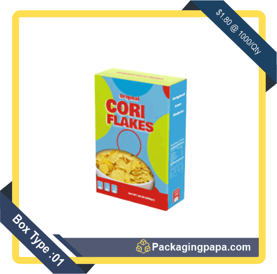 Custom Corn Flakes Cereal Boxes 1