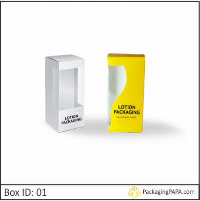 Custom Printed Glossy Lotion Packaging Boxes 01