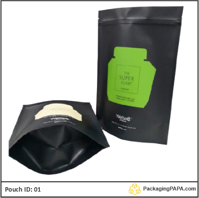 Stand Up Pouch black Kraft paper 03