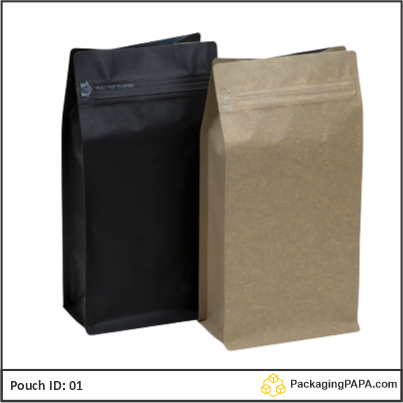 Stand Up Pouch black Kraft paper 04