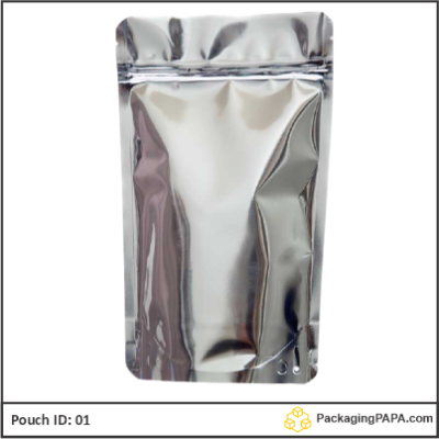Standup Pouch Shiny Silver 01