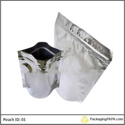 Standup Pouch Shiny Silver 03