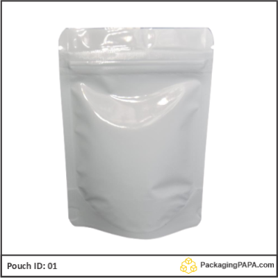 Standup Pouch Shiny White 01