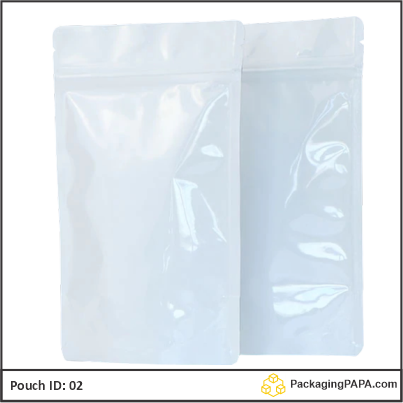 Standup Pouch Shiny White 02