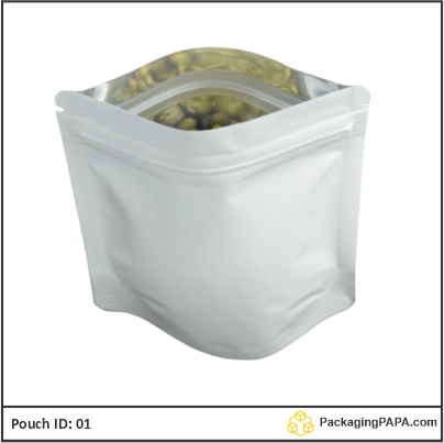 Standup Pouch Shiny White 03