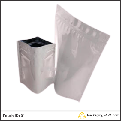 Standup Pouch Shiny White 04