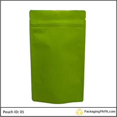 recyclable stand up pouches green 01